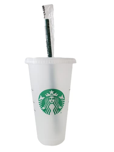 Starbucks 1 Pack Bundle - Reusable Frosted 24 oz Cold Cup...