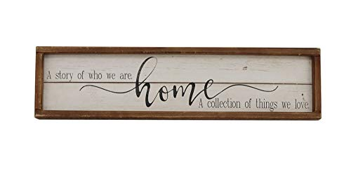 Parisloft A Story of Who We are Home Wood Framed Wall...
