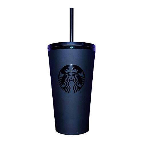 Starbucks Matte Black Acrylic Cold Cup with Emerald Logo &...