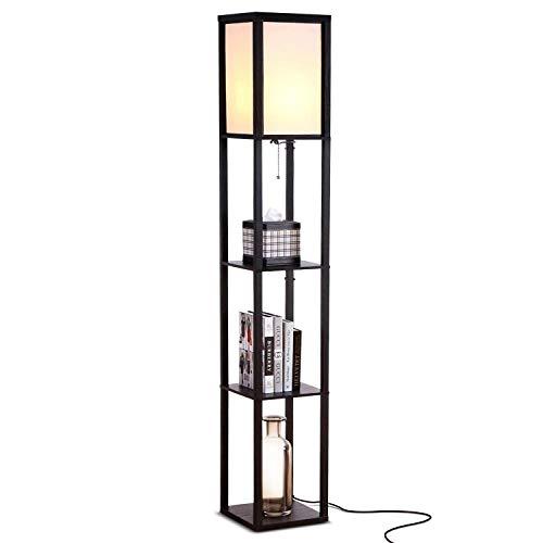 Brightech Maxwell - Modern LED Shelf Floor Lamp -...