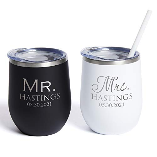 Lifetime Creations Pair (2) Engraved Personalized Mr....