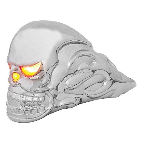 GG Grand General 48370 Chrome Flamed Skull Hood...