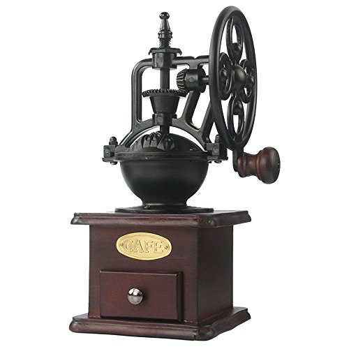 MOON-1 Manual Coffee Grinder Antique Cast Iron Hand...