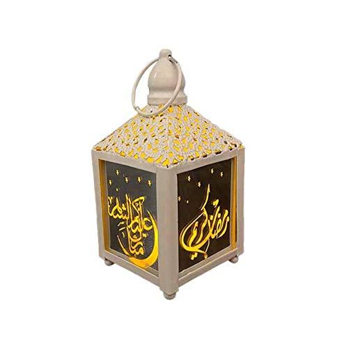 DETTELIN Mini Lantern with LED Night Light, Iron Wind...