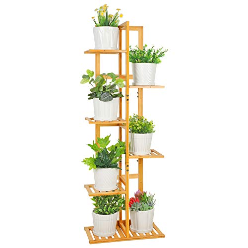 ROSSNY Plant Stand, Bamboo Plant Stands for Indoor...