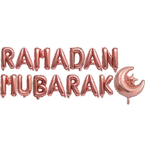 Amosfun 1 Set Ramadan Mubarak Balloons Kit Aluminum...