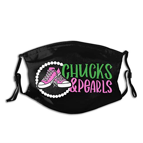 Chuck and Pearls Adults Mouth Mask with Washable...