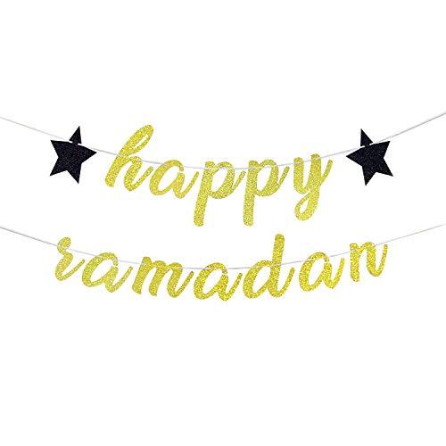 Glitter Happy Ramadan Banner - 2020 Mubarak Islamic...