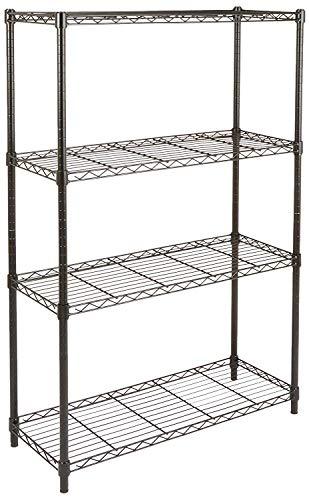 Amazon Basics 4-Shelf Adjustable, Heavy Duty Storage...