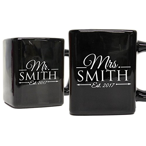 Mr and Mrs Coffee Cup Set - Personalized Engraved...