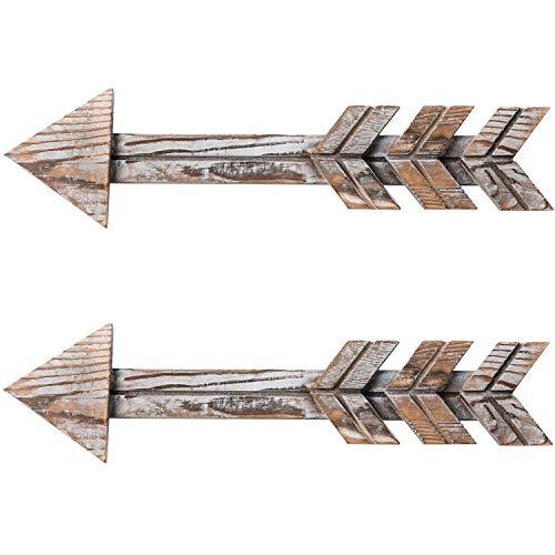 TIMEYARD Rustic Wood Arrow Decor, Set of 2 Rustic Arrow...