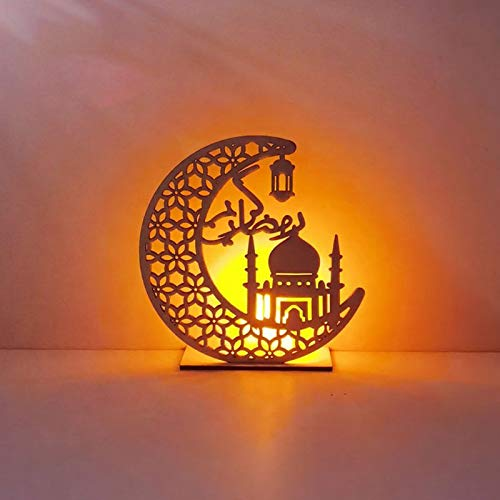 Jilin Eid Mubarak Candle Lanterns Ramadan Decoration...