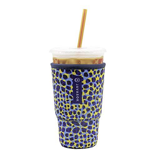 Java Sok Reusable Neoprene Insulator Sleeve for Iced Coffee...
