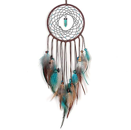 MoonFly Dream Catcher Handmade Traditional Feather...