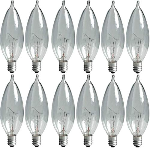 GE Crystal Clear Bent Tip Decorative Light Bulbs (40...