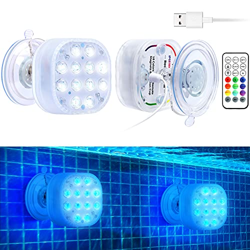 VIDOME Rechargeable Led Pool Lights for Inground Pool,...
