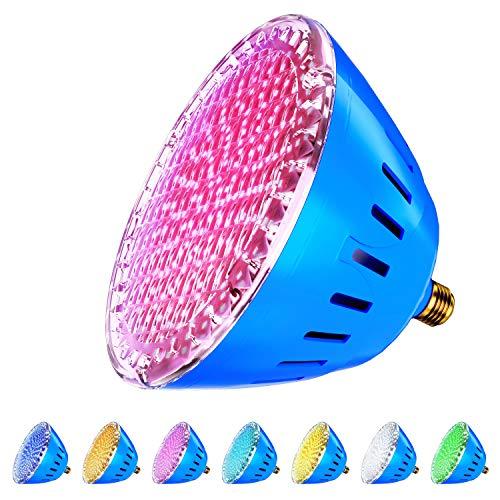 LED Pool Lights Bulb, RGB Muliti Color LED Pool Lights,...