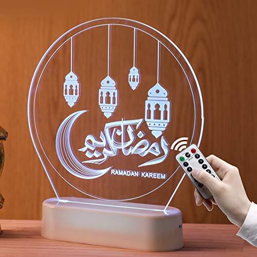 WYBF Eid Mubarak LED Lights, 3D Castle Room Decoration...