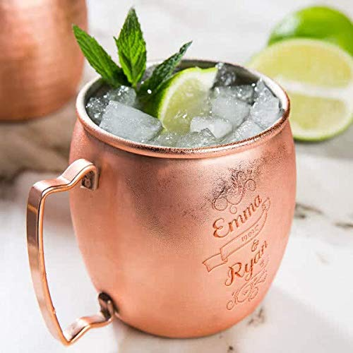 Personalized Wedding Core 16 oz Moscow Mule Cup with...