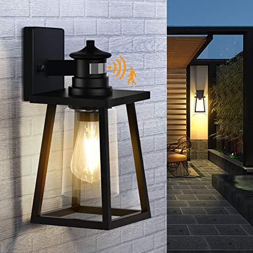 PARTPHONER Motion Sensor Outdoor Wall Lights, Dusk to...