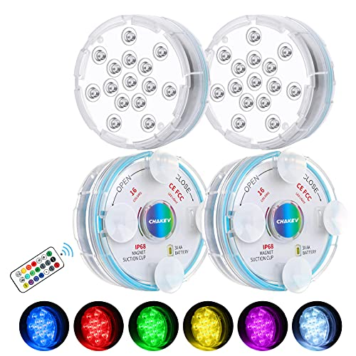 Chakev Submersible Led Pool Lights, 16 Colors...