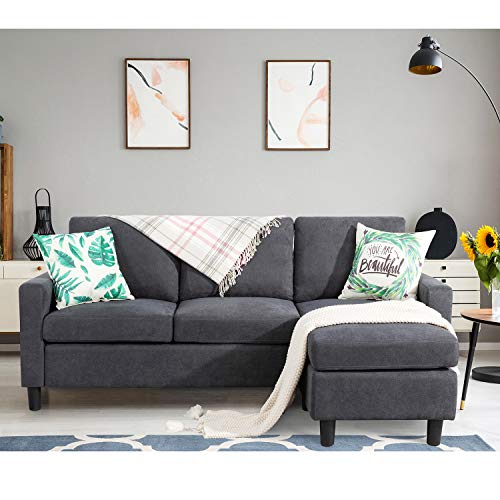 Shintenchi Convertible Sectional Sofa Couch, Modern...
