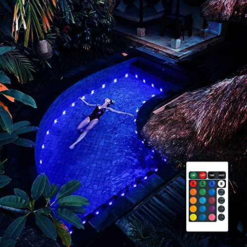 POOCCI Pool Lights for Above Ground Pools Full Waterproof...