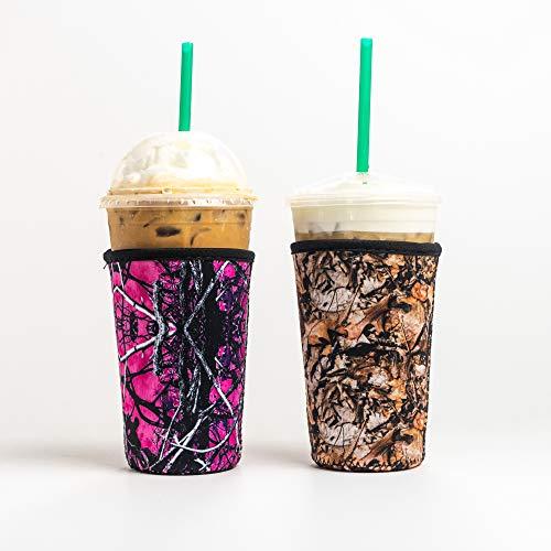 Reusable Insulated Neoprene Iced Coffee Beverage Sleeves |...