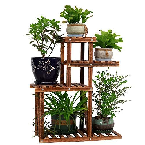 PENGKE Multi Layer Wood Plant Stand Indoor Outdoor,4...
