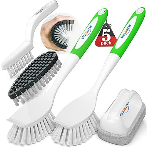 Holikme 5 Pack Kitchen Cleaning Brush Set, Dish Brush...