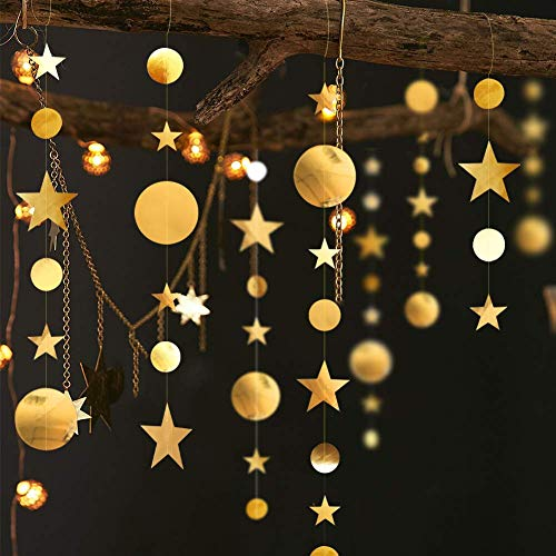 Decor365 Gold Twinkle Little Star Party Garlands...