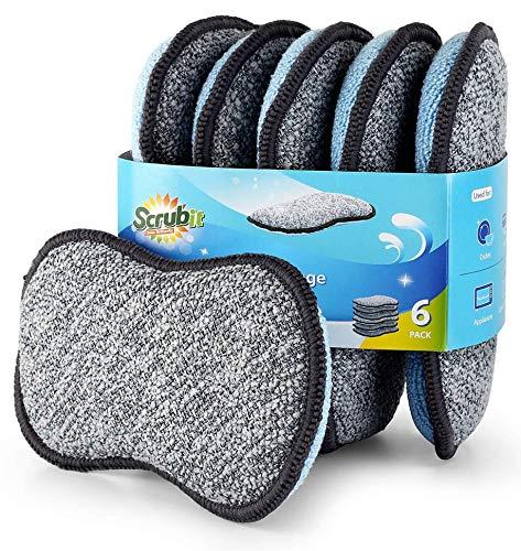 Multi-Purpose Scrub Sponges for Kitchen by Scrub- it -...