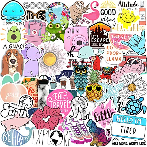 70 VSCO Stickers, Aesthetic Stickers, Cute Stickers,...