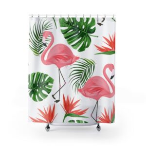 exotic tropical Shower Curtain _ tropical flamingo _ Waterproof Polyester Fabric Urban Shower Curtains