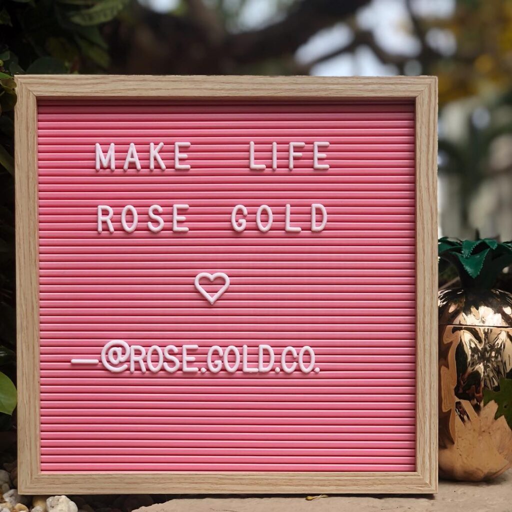 Rose Gold Office