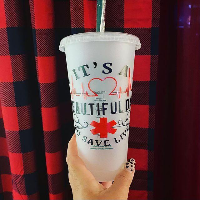greys anatomy starbucks cup svg