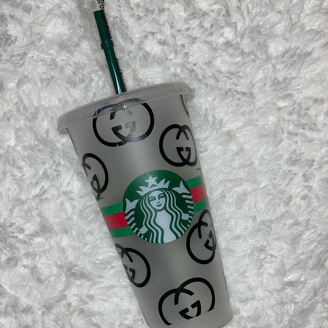 gucci starbucks cup svg