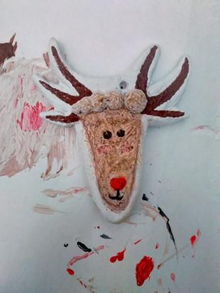 reindeer foot ornament