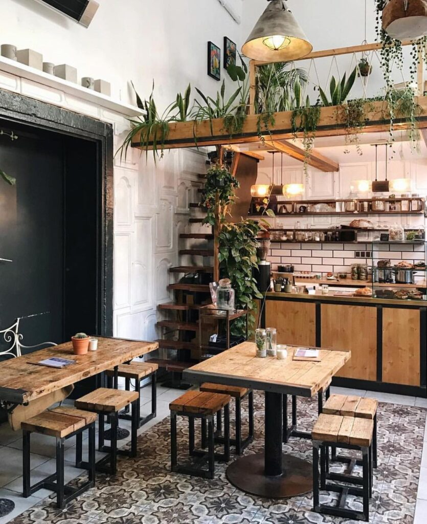 @hellodecorlover , this Berlin cafe is the dream. Image by @richardleemassey .