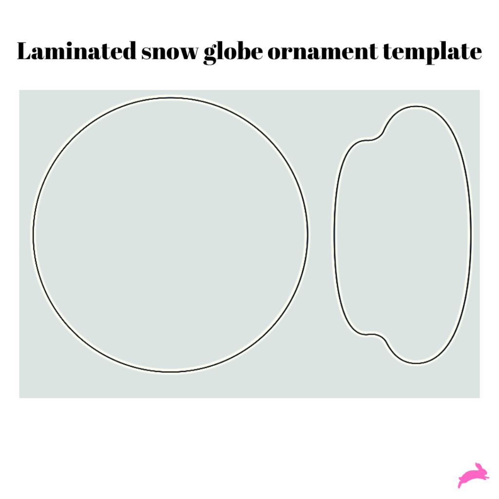 laminated snow globe template