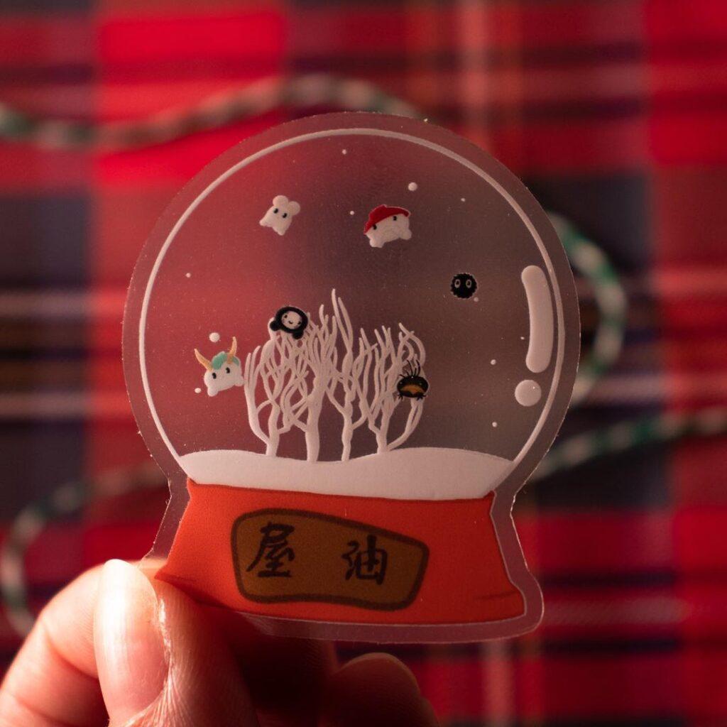 laminated snow globe ornament template