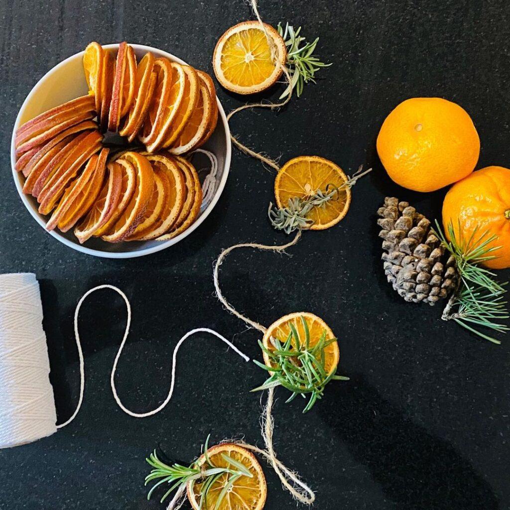 baked orange slices for decoration