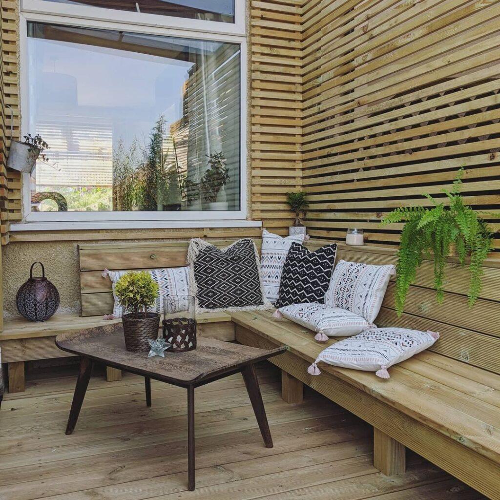 eclectic interior garden