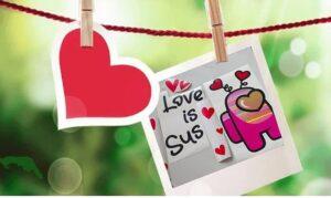 Among us Valentines SVG