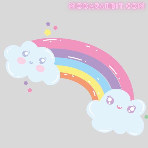 Rainbow crafts with cotton balls
