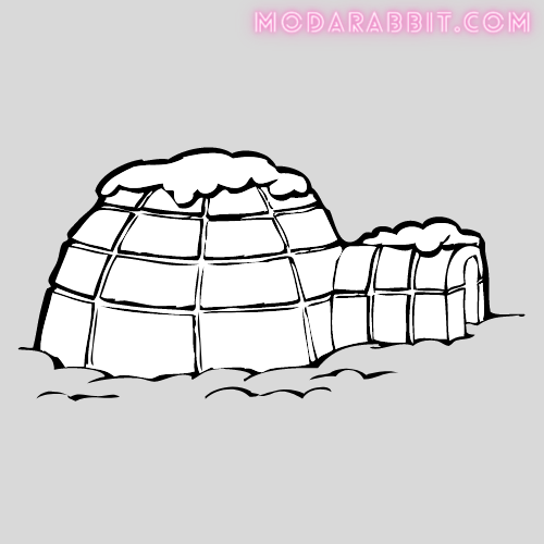 igloo crafts with cotton balls